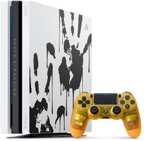 Sony PlayStation 4 pro 1 To [Death Stranding Limited Edition incl. manette sans fil, sans jeu] blanc
