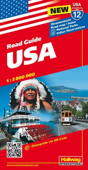 Hallwag USA Road Guide, No.12, USA: Strassenkarte, Poad map, Indes,  National Parks, Indian Reservations,States & Flags, Touring information  (Road Map) ...
