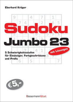 Sudokujumbo 23. 5 Schwierigkeitsstufen - für Einsteiger, Fortgeschrittene und Profis - Eberhard Krüger  [Taschenbuch]