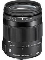 Sigma C 18-200 mm F3.5-6.3 DC HSM Macro 62 mm Objectif (adapté à Pentax K) noir