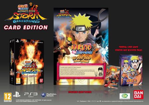 Naruto Shippuden Karten.Naruto Shippuden Ultimate Ninja Storm Generations Limited Card Edition Inkl Spielfeld Karten Und Poster