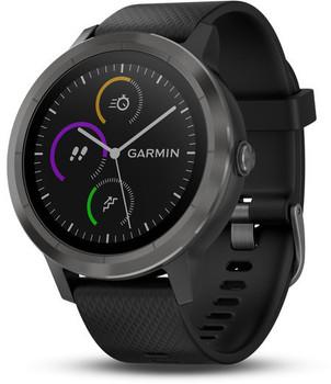 Garmin Vivoactive 3 30,4 mm steen met siliconen bandje zwart