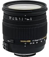 Sigma 17-70 mm F2.8-4.5 DC HSM Macro 72 mm filter (geschikt voor Nikon F) zwart