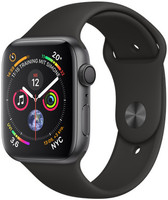 Apple Watch Series 4 44 mm aluminium spacegrijs met sportarmband [wifi] zwart