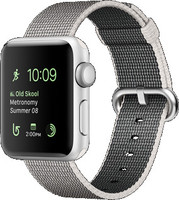 Apple Watch Series 2 38mm Caja de aluminio en plata con correa de nailon trenzado gris [Wifi]