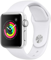 Apple Watch Series 3 38 mm aluminium zilver met sportarmband wit [wifi]