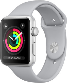 Apple Watch Series 3 42mm Caja de aluminio en plata con correa deportiva gris niebla [Wifi]