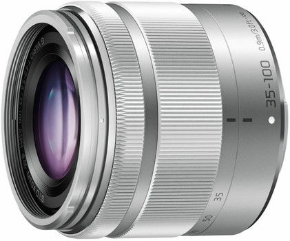 Panasonic Lumix G VARIO 35-100 mm F4.0-5.6 ASPH. O.I.S. 46 mm Obiettivo (compatible con Micro Four Thirds) argento