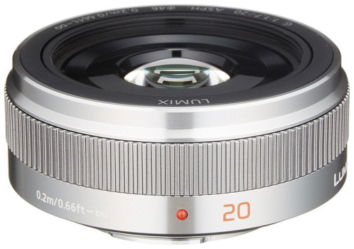 Panasonic Lumix G 20 mm F1.7 ASPH. II 46 mm Objetivo (Montura Micro Four Thirds) plata