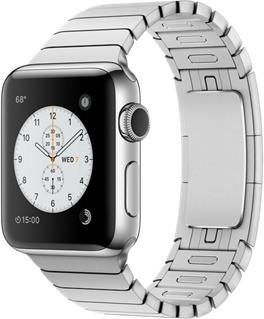 Apple Watch Series 2 38mm cassa in acciaio inossidabile argento con bracciale a maglie argento [Wifi]