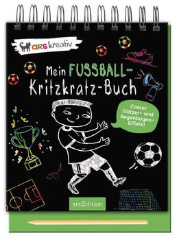 Mein Fußball-Kritzkratz-Buch [Gebundene Ausgabe]