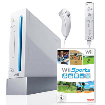 Nintendo Wii [mando incluído y Wii Sports, compatible con GameCube] blanco