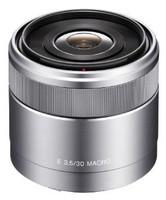 Sony E 30 mm F3.5 Macro 49 mm Objectif (adapté à Sony E-mount) argent