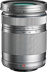 Olympus M.Zuiko Digital 40-150 mm F4.0-5.6 ED R 58 mm filter (geschikt voor Micro Four Thirds) zilver