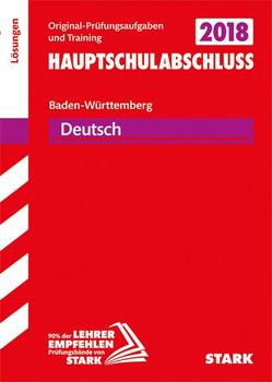 Lösungen zu Original-Prüfungen und Training Hauptschulabschluss - Deutsch 9. Klasse - BaWü [Taschenbuch]