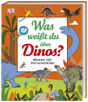 Was weißt du über Dinos?. Wissen für Vorschulkids. Erstes großes Dino-Sachbuch mit Fotos und Lesebändchen [Gebundene Ausgabe]