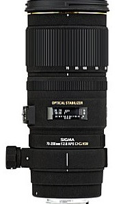 Sigma 70-200 mm F2.8 DG EX HSM OS 77 mm Obiettivo (compatible con Sony A-mount) nero