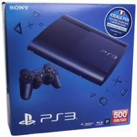 Sony PlayStation 3 super slim 500 GB [incl. draadloze controller] blauw