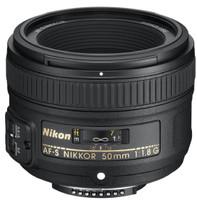 Nikon AF-S NIKKOR 50 mm F1.8 G 58 mm Objetivo (Montura Nikon F) negro