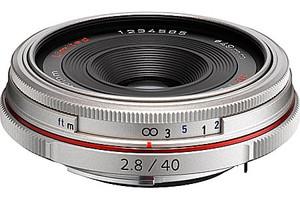 Pentax HD DA 40 mm F2.8 49 mm Objectif (adapté à Pentax K) argent [Édition limitée]