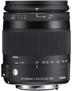 Sigma C 18-200 mm F3.5-6.3 DC HSM OS Macro 62 mm filter (geschikt voor Nikon F) zwart
