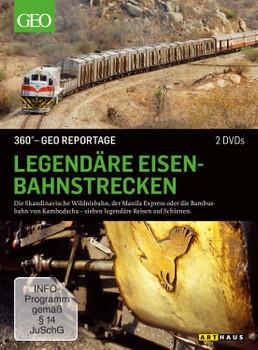 360° - GEO Reportage: Legendäre Eisenbahnstrecken [2 DVDs]