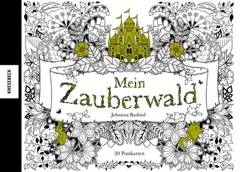 Mein Zauberwald. Postkartenbuch mit 20 herausnehmbaren Postkarten - Johanna Basford  [Gebundene Ausgabe]