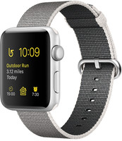Apple Watch Series 2 42mm Caja de aluminio en plata con correa de nailon trenzado gris [Wifi]