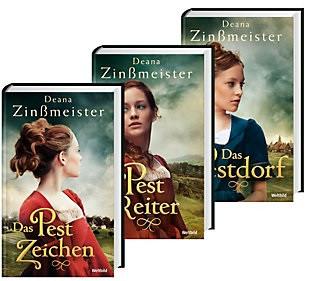 Pest-Trilogie: Band 1-3 - Das Pestzeichen / Der Pestreiter / Das Pestdorf - Deana Zinßmeister [3 Bände, Gebundene Ausgabe, Weltbild]