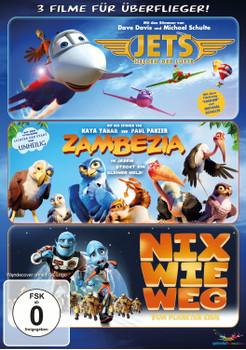 Jets - Helden der Lüfte / Zambezia - In jedem steckt ein kleiner Held! / Nix wie weg ... [3 Discs]