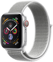 Apple Watch Series 4 40 mm aluminium zilver met geweven sportbandje [wifi + cellular] grijs