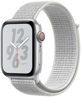 Apple Watch Nike+ Series 4 44 mm aluminium zilver met geweven Nike sportbandje [wifi + cellular] grijswit