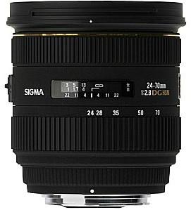 Sigma 24-70 mm F2.8 DG EX HSM 82 mm filter (geschikt voor Nikon F) zwart