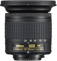 Nikon AF-P DX 10-20 mm F4.5-5.6 G VR 72 mm Objetivo (Montura Nikon F) negro