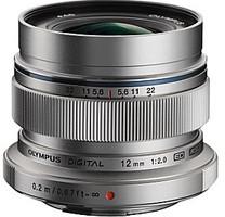 Olympus 12 mm F2.0 ED 46 mm filter (geschikt voor Micro Four Thirds) zilver