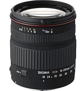 Sigma 18-200 mm F3.5-6.3 DC 62 mm Obiettivo (compatible con Nikon F) nero
