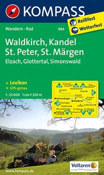 Waldkirch - Kandel - St.Peter - St. Märgen: Wanderkarte mit Kurzführer und Radwegen. GPS-genau. 1:25000 - KOMPASS