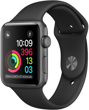 Apple Watch Series 2 42mm cassa in alluminio grigio siderale con cinturino Sport nero [Wifi]