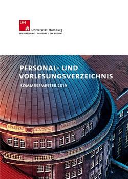 Personal- und Vorlesungsverzeichnis. Sommersemester 2019 [Taschenbuch]