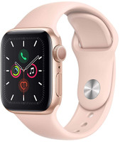 Apple Watch Series 5 40 mm Aluminiumgehäuse gold am Sportarmband sandrosa [Wi-Fi]