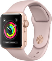 Apple Watch Series 3 38mm cassa in alluminio oro con cinturino Sport rosa sabbia [Wifi]