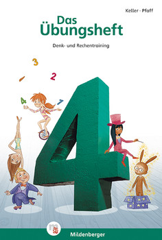Das Übungsheft 4: Mathe, Denk- und Rechentraining - Mit Lösungsheft und Stickerbogen