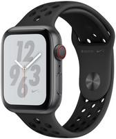 Apple Watch Nike+ Serie 4 44 mm alloggiamento in alluminio space grigio con Bracciale sportivo Nike antracite/nero [Wi-Fi + Cellular]