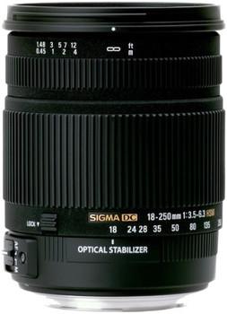 Sigma 18-250 mm F3.5-6.3 DC HSM OS 72 mm Objectif (adapté à Nikon F) noir