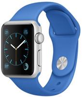 Apple Watch Sport 38mm argento con cinturino Sport blu elettrico [Wifi]