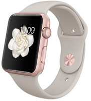 Apple Watch Sport 42mm oro rosa con cinturino Sport stone [Wifi]