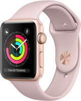 Apple Watch Series 3 42mm Caja de aluminio en oro con correa deportiva arena rosa [Wifi]