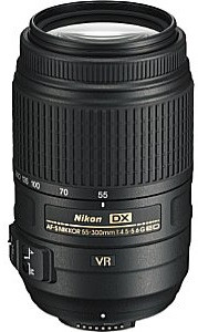 Nikon AF-S DX NIKKOR 55-300 mm F4.5-5.6 ED G VR 58 mm filter (geschikt voor Nikon F) zwart