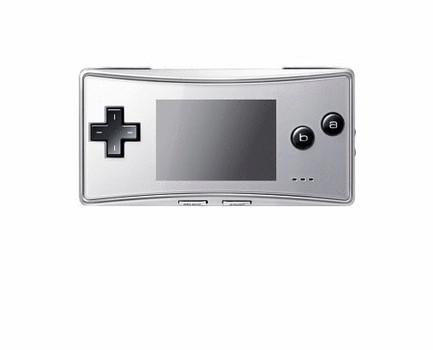 Game Boy Advance Micro plata