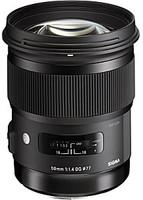 Sigma A 50 mm F1.4 DG HSM 77 mm Objetivo (Montura Nikon F) negro